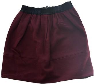 Sandro Burgundy Cotton Skirt for Women