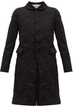 Comme des Garçons Comme des Garçons Single-breasted Crinkled-crepe Coat - Black