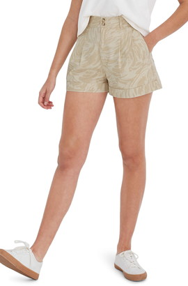 Madewell Abstract Print Pleated Short
