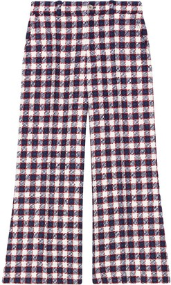Gucci Checked tweed culotte trousers