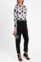 Oscar de la Renta Lace-Up Tailored Trousers