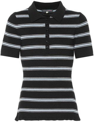 ALEXACHUNG Striped wool shirt