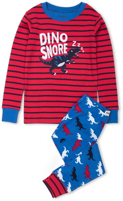 Hatley T. Rex Silhouettes Organic Cotton Fitted Two-Piece Pajamas