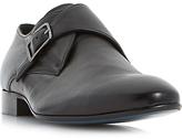 Bertie Pounce Single-Buckle Leather Monk Shoes, Black