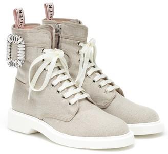Roger Vivier Viv' Ranger embellished ankle boots
