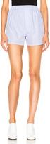 Maison Margiela Striped Cotton Popeline Shorts