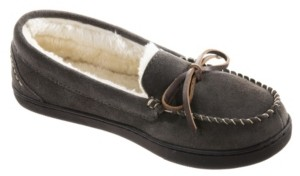 Isotoner Signature Women's Sage Genuine Suede Moccasin Slippers