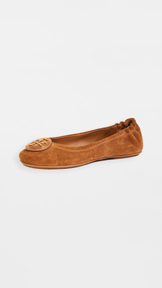 Tory Burch Suede Minnie Travel Ballet Flats