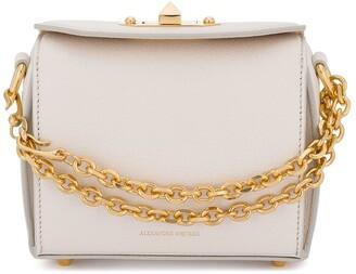 Alexander McQueen White Box Mini leather shoulder bag