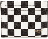 Givenchy Monochrome Checked Leather Card Holder