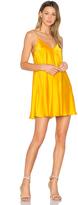 Amanda Uprichard Deep V Slip Dress