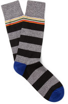 Paul Smith Striped Stretch Cotton-blend Socks - Multi
