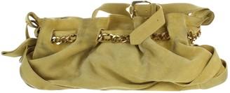 Burberry Yellow Suede Handbags