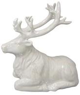 Threshold Laying Deer Figurine - White