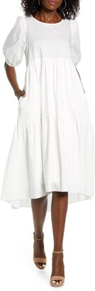 CODEXMODE Tiered Poplin Dress