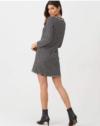 MANGO Tweed Shift Dress - Black