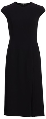 Escada Danehra Crepe Cap-Sleeve Dress