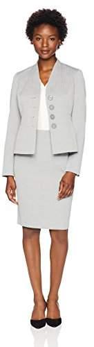 Women`s Petite Texture 3 Button Skirt