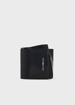 Emporio Armani Wide, Elasticated Belt With Patent Leather Inserts