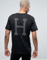 Huf T-shirt With Classic Logo Back Print