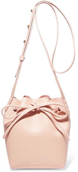 Mansur Gavriel Mini Mini Leather Bucket Bag - Pastel pink