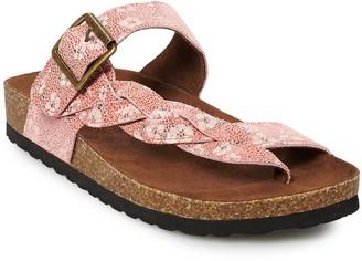Sonoma Goods For Life SONOMA Goods for Life Airbrush Braided Women's Thong Sandals