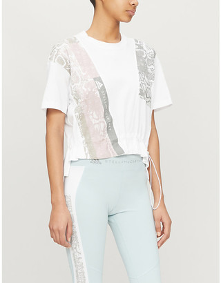 adidas by Stella McCartney Graphic-print cotton-jersey T-shirt