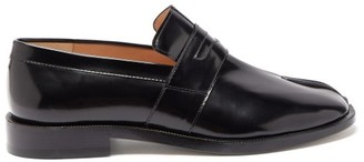 Maison Margiela Tabi Split-toe Leather Loafers - Black