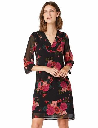 Amazon Brand - TRUTH & FABLE Women's Midi Chiffon A-Line Dress