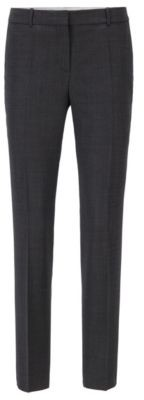 HUGO BOSS Regular Fit Pants In A Traceable Virgin Wool Blend - Patterned