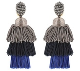 Oscar de la Renta Tassel clip-on earrings