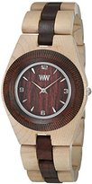 WeWood Odyssey Unisex Beige/Brown Wood Watch
