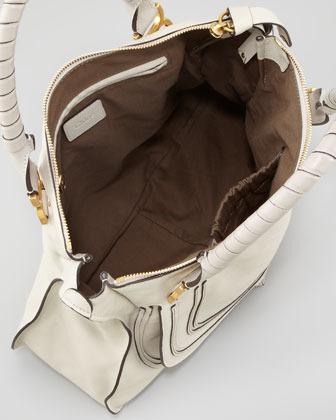 Chloé Marcie Large Shoulder Bag, Off White