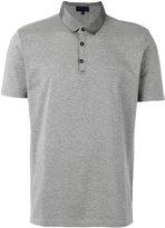 Lanvin satin collar polo shirt - men - Cotton/Polyester/Viscose - M
