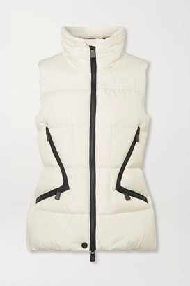Moncler Atka Quilted Down Ski Vest - White