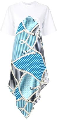 MSGM handkerchief-panel cotton T-shirt