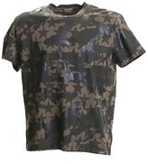 Valentino Camoustars Printed Green Cotton T-shirt