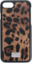 Dolce & Gabbana leopard print iPhone 7 case - men - Cotton/Plastic/Polyester/Polyurethane - One Size