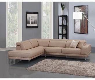 """Brayden Studio Alsop 117"""" Sectional Orientation: Left Hand Facing, Upholstery Color: Beige"""