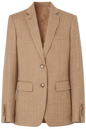 Burberry Beaded Pinstripe Blazer