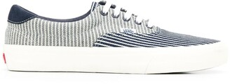 Vans lace up striped sneakers