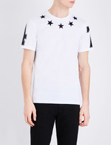 Givenchy Star appliqué cotton-jersey T-shirt