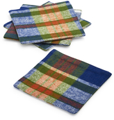 Sur La Table Blue Plaid Coasters
