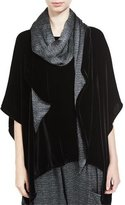 Eileen Fisher Washable Velvet Scarf, Black