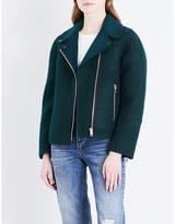 Sandro Biker-style felt and wool jacket