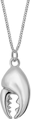 True Rocks Sterling Silver Mini Crab Claw Pendant