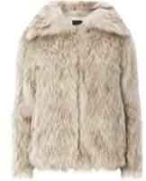 Dorothy Perkins Womens Brown Speckle Faux Fur Coat- Brown