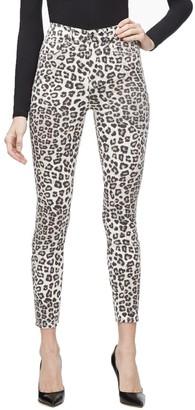 Ga Sale Good Waist Crop - Snow Leopard001