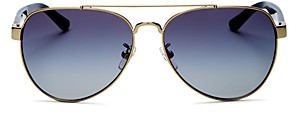 Tory Burch Women's Brow Bar Aviator Sunglasses, 57mm