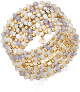INC International Concepts Gold-Tone Beaded Coil Bracelet, Created for Macy's